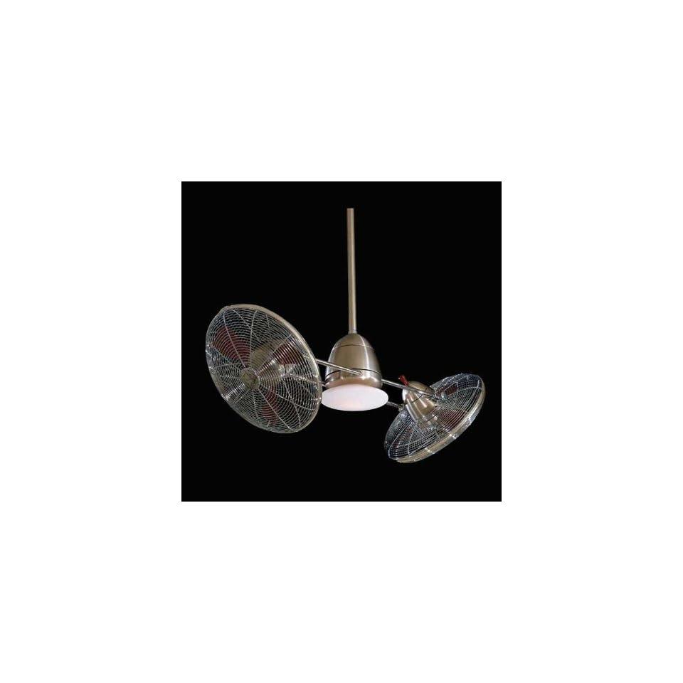 Minka Aire Ceiling Fans F602 Minka Aire Modern Gyro Ceiling Fan Brushed Nickel Chrome