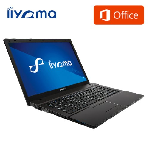 iiyama MS Word・Excel付 15P3200-i3-TGM [Windows 8.1搭載](15.6型HD光沢液晶/Core i3-4100M/1TB/4GB/DVD/Office Personal Premium) ノートパソコン
