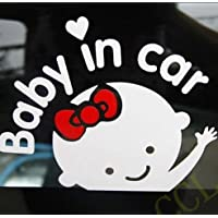 'Baby In Car' Baby on Board Safety Sign Cute Car Decal / Vinyl Sticker