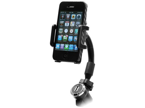 Cellet Vehicle Phone Holder with USB Charging Port for Smartphones and MP3/MP4 devices Picture