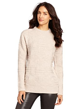 Portland Collection by Pendleton Women's Ram's Horn Knit Crew Neck Sweater, Cream, Medium