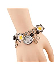 Festival 2014 Special: GirlZ! Romantic Black Flower Bracelet With Watch