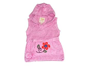 Girls Children's Place Hooded Sweater Vest - Size XL (14) (Pink)