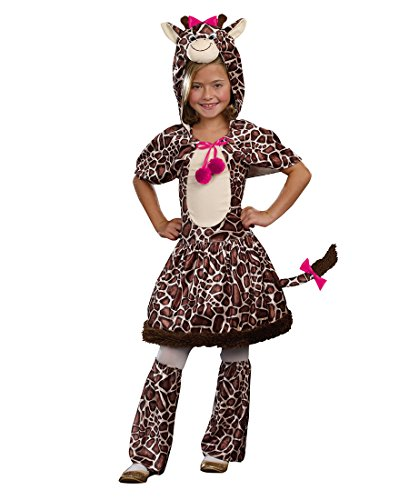 Dreamgirl 9020 Gigi Giraffe Girls Costume - Small - Brown (Gigi Giraffe Girls Costume)