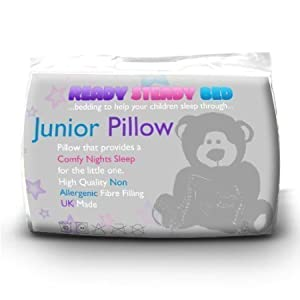 Ready Steady Bed® Cotbed Junior Toddler Anti Allergy Pillow. Size: 1 x Cot Bed Pillow (40cm by 60cm).