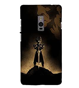 Alone Warrior with Sword 3D Hard Polycarbonate Designer Back Case Cover for OnePlus 2 :: OnePlus Two