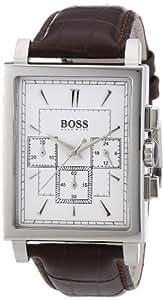 Hugo Boss Herren-Armbanduhr Chronograph Quarz Leder 1512872