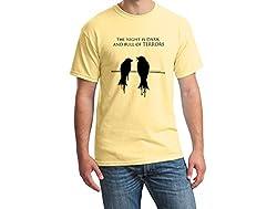 Teeforme Night is Dark T-shirt Yellow