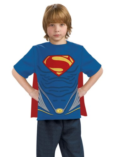 Man of Steel Superman Costume Top with Cape Children's Costume
