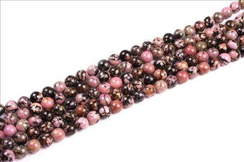 Sweet & Happy Girl'S Store 10Mm Round Rhodonite Gemstone Beads Strand 15