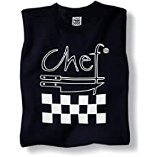 San Jamar TS002 Chef Revival Cotton T-Shirt with Chef Logo, Regular, Black