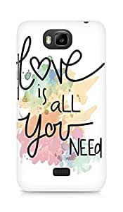 Amez designer printed 3d premium high quality back case cover for Huawei Honor Bee (Love Quote 6)