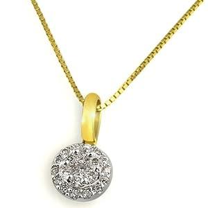 Goldmaid Damen-Collier 585 Gelbgold 21 Brillanten 0,25ct 45cm Pa C3639GG