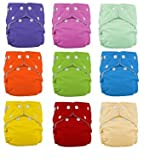 FuzziBunz® One Size Cloth Diapers 12 Pack Gender Neutral NEW Colors with Bonus Dainty Baby Reusable Bag