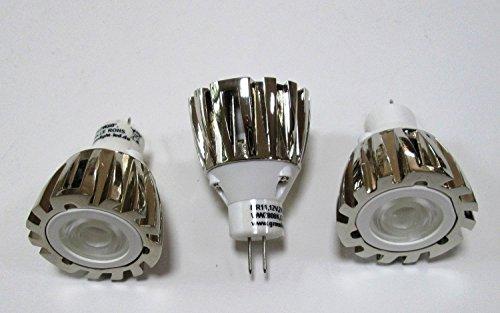 LED MR11 cromato-2W 160Lm-bianco caldo 2,800 K Angolo 40° - 10V - 30V DC-ideale per camper-Boot-rimesse/3 aktions Pack!