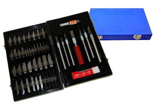 tcp-global-deluxe-cutting-knife-set-with-case-similar-to-exacto-56-piece-precision-hobby-knife-set