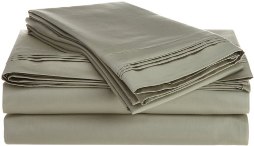 Egyptian Cotton 800 Thread Count Oversized Queen Sheet Set Solid, Sage back-896315