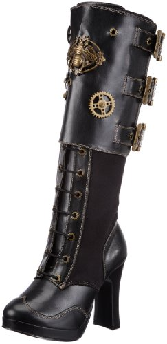 Pleaser Women's Crypto-302 Knee-High Boot 0