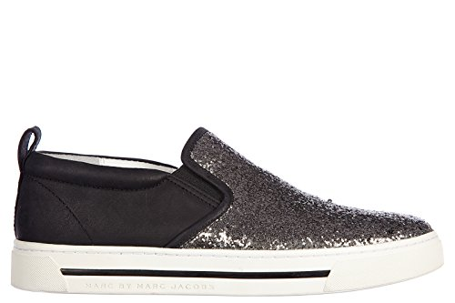 Marc by Marc Jacobs slip on donna in pelle sneakers nuove originali sparkling argento EU 39 M9000056
