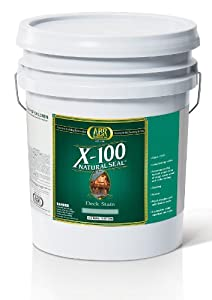X-100 Natural Seal - Deck & Siding Stain, 5 Gallon, Clear ...