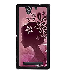 Girl 2D Hard Polycarbonate Designer Back Case Cover for Sony Xperia C4 Dual :: Sony Xperia C4 Dual E5333 E5343 E5363