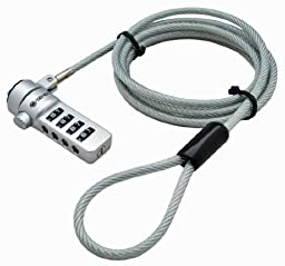 Sendt Silver Notebook / Laptop Combination Lock Security Cable