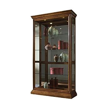 Sofaweb.com Golden Oak Two-Way Sliding Door Curio Cabinet
