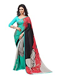 Multi Color Crepe Silk Party Wear Saree
