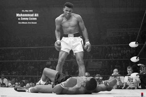 """1art1 39065 Poster """"Muhammad Ali - Vs. Sonny Liston VI"""" 91 x 61 cm"""