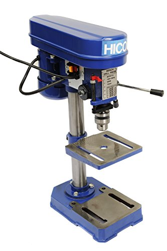 HICO-DP4113 8-Inch Bench Top Drill Press 5 Speed Rotary Tool Work Station with 6-1/2 x 6-1/2 inch cast iron worktable, height adjustable (8 Inch Drill Press compare prices)