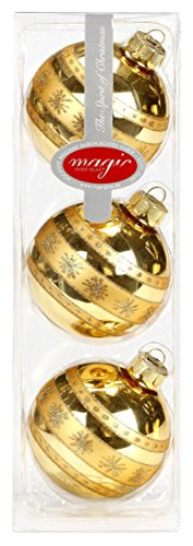 3-Stck-Christbaumkugeln-GLAS-8cm-gold-glnzend-Weihnachtskugeln-Baumkugeln-Baumschmuck-Set-Sternen-Schneeflocken-Dekor-Muster-80mm