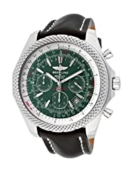 Men's Breitling For Bentley Automatic/Mechanical Chrono Laurel Green Dial Black Genuine Leather