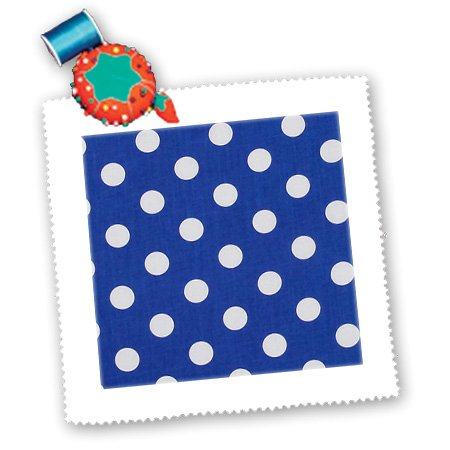 Florene - Designer Plaids And Pattern - Print Of White Dots On Electric Blue - Quilt Squares - 6X6 Inch Quilt Square - Qs_194739_2