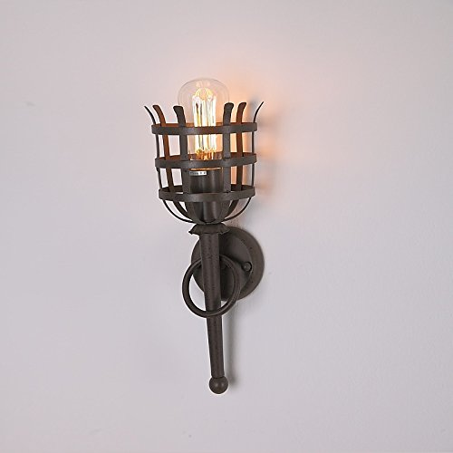 Nostalgische wandfackel mit gitterschutz wandleuchte for Nostalgische lampen
