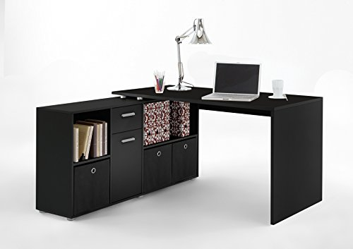 fmd lex ecke kombination schreibtisch holz schwarz com forafrica. Black Bedroom Furniture Sets. Home Design Ideas