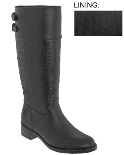 Capelli New York Solid Opaque With Two Back Buckles Ladies Equestrian Body Jelly Rain Boot