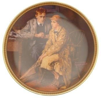 c1983 Knowles Confiding in the Den Norman Rockwell plate Rediscovered Women CP2109