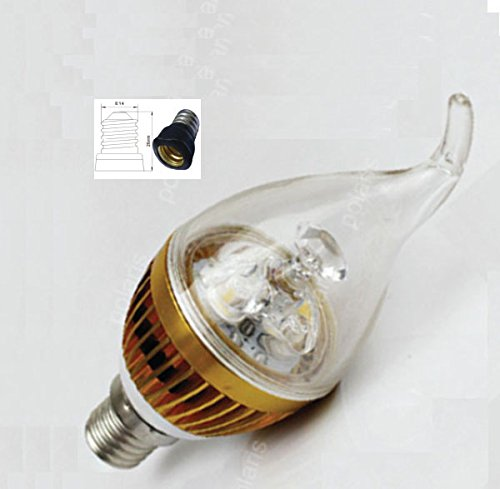 New E14 E12 Candle 6W Cree Led Cool White Light Super Energy Saving Bulb