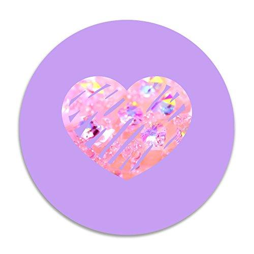 CVB DOORMAT Pink Crystal Heart Non-slip Doormat White