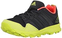 adidas Performance Kanadia 7 TR K Trail Shoe (Little Kid/Big Kid), Black/Black/Yellow, 11.5 M US Little Kid