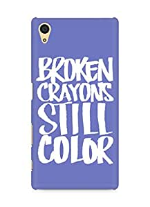 AMEZ broken crayons still colour Back Cover For Sony Xperia Z5