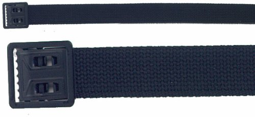 Black Military Web Belt With Black Open Face Buckle 4290BLK Size 44 Inches
