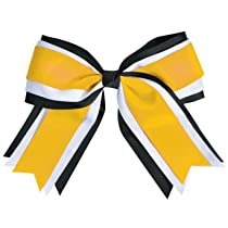 Jumbo 3 Color Cheer Hair Bow
