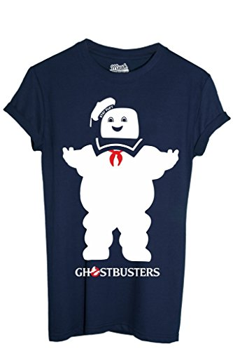 T-Shirt STAY PUFT GHOSTBUSTERS - FILM by MUSH Dress Your Style - Uomo-XL-BLU NAVY