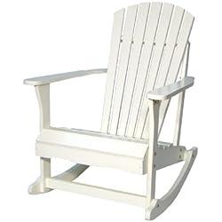 International Concepts R-52581 Adirondack Porch Rocker, White
