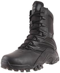 Bates Men\'s Delta Side Zip 8 Inch Uniform Boot, Black, 11.5 M US