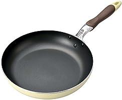 パール金属 OHANA ふっ素加工 フライパン 26cm アイボリー 【ガス火専用】 HB-961