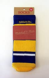 Golden State Warriors Team Colors Mitchell & Ness Striped Tube Socks M 8-12