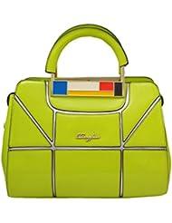 Omkar Shopy New Fashion Women's Ladies PU Hand Bag / Shoulder Bag(GreenYellow) OS12500345