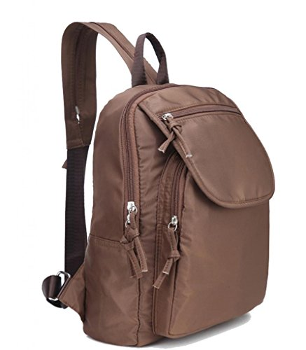 Zerd Chinlon Cute Casual Travel Backpack For Women Coffee front-206986